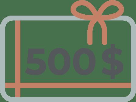 500$ fidélité