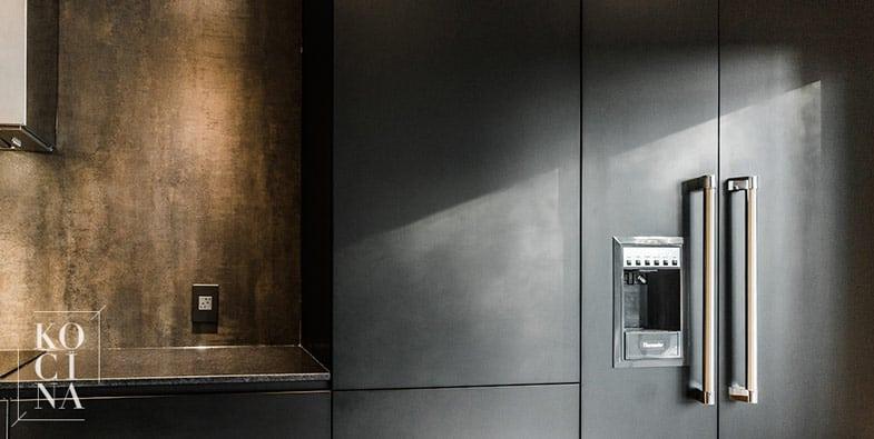 armoires de cuisine sur mesure noire